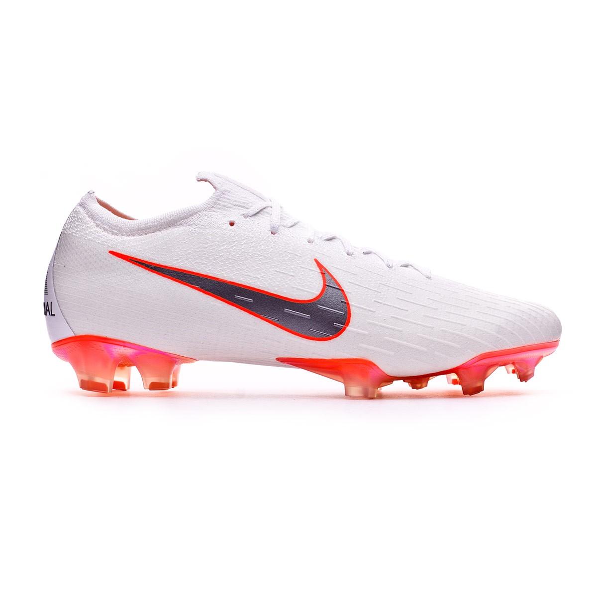 new style 3b5da 43084 Football Boots Nike Mercurial Vapor XII Elite FG White-Metallic cool  grey-Total orange - Football store Fútbol Emotion