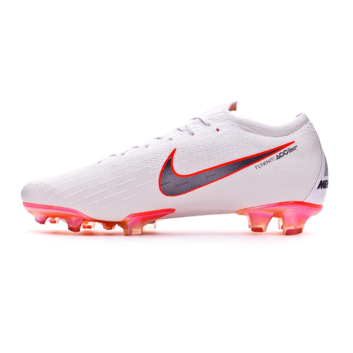 09f1b7a229fb30 Football Boots Nike Mercurial Vapor XII Elite FG White-Metallic cool  grey-Total orange - Football store Fútbol Emotion