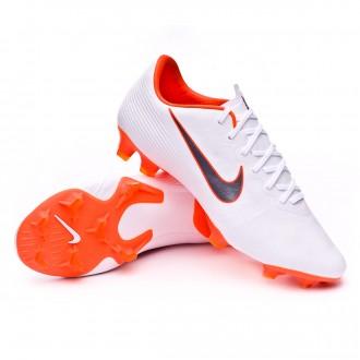 Bota  Nike Mercurial Vapor XII Pro FG White-Metallic cool grey-Total orange
