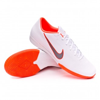 Zapatilla  Nike Mercurial VaporX XII Academy IC White-Metallic cool grey-Total orange