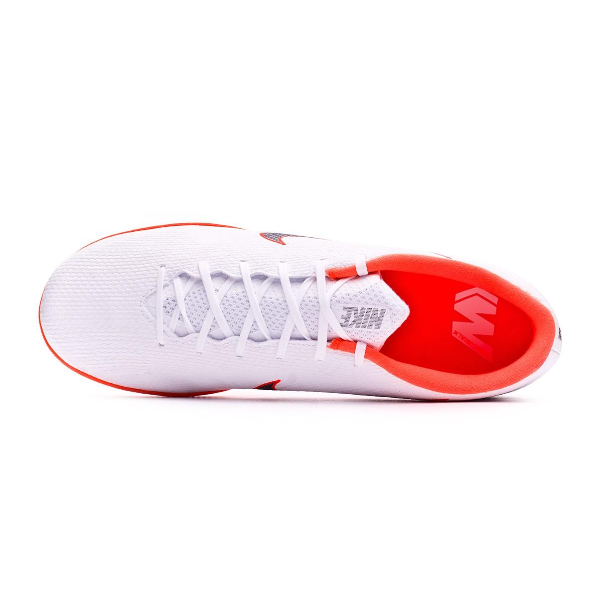 4fa216f9297 Futsal Boot Nike Mercurial VaporX XII Academy IC White-Metallic cool grey-Total  orange - Football store Fútbol Emotion