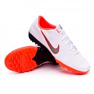 Chaussure de football  Nike Mercurial VaporX XII Academy Turf White-Metallic cool grey-Total orange