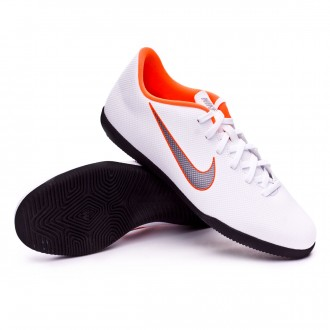 Zapatilla  Nike Mercurial VaporX XII Club IC White-Metallic cool grey-Total orange