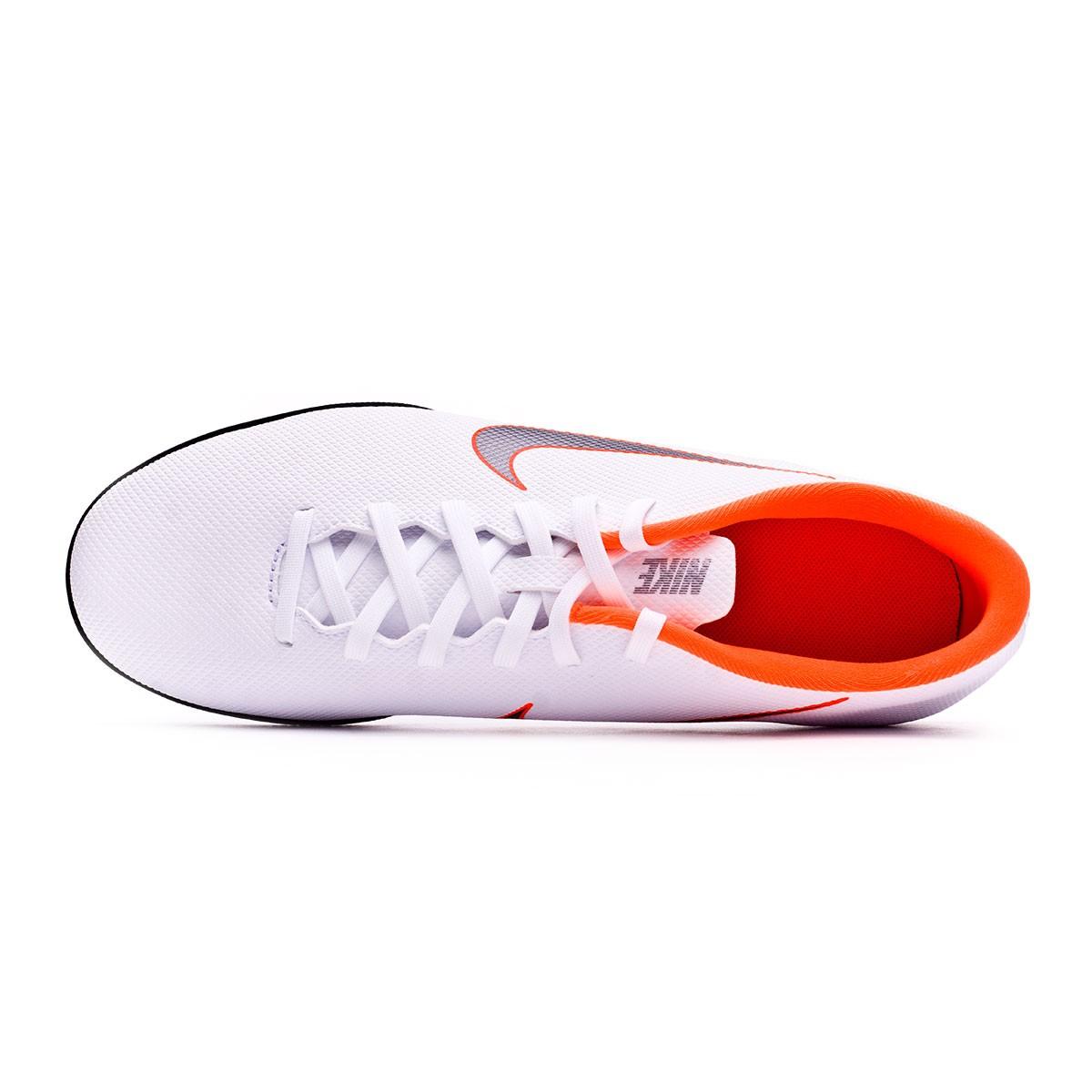1c3107cdfd7 Futsal Boot Nike Mercurial VaporX XII Club IC White-Metallic cool  grey-Total orange - Football store Fútbol Emotion