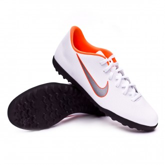 Chaussure de football  Nike Mercurial VaporX XII Club Turf White-Metallic cool grey-Total orange