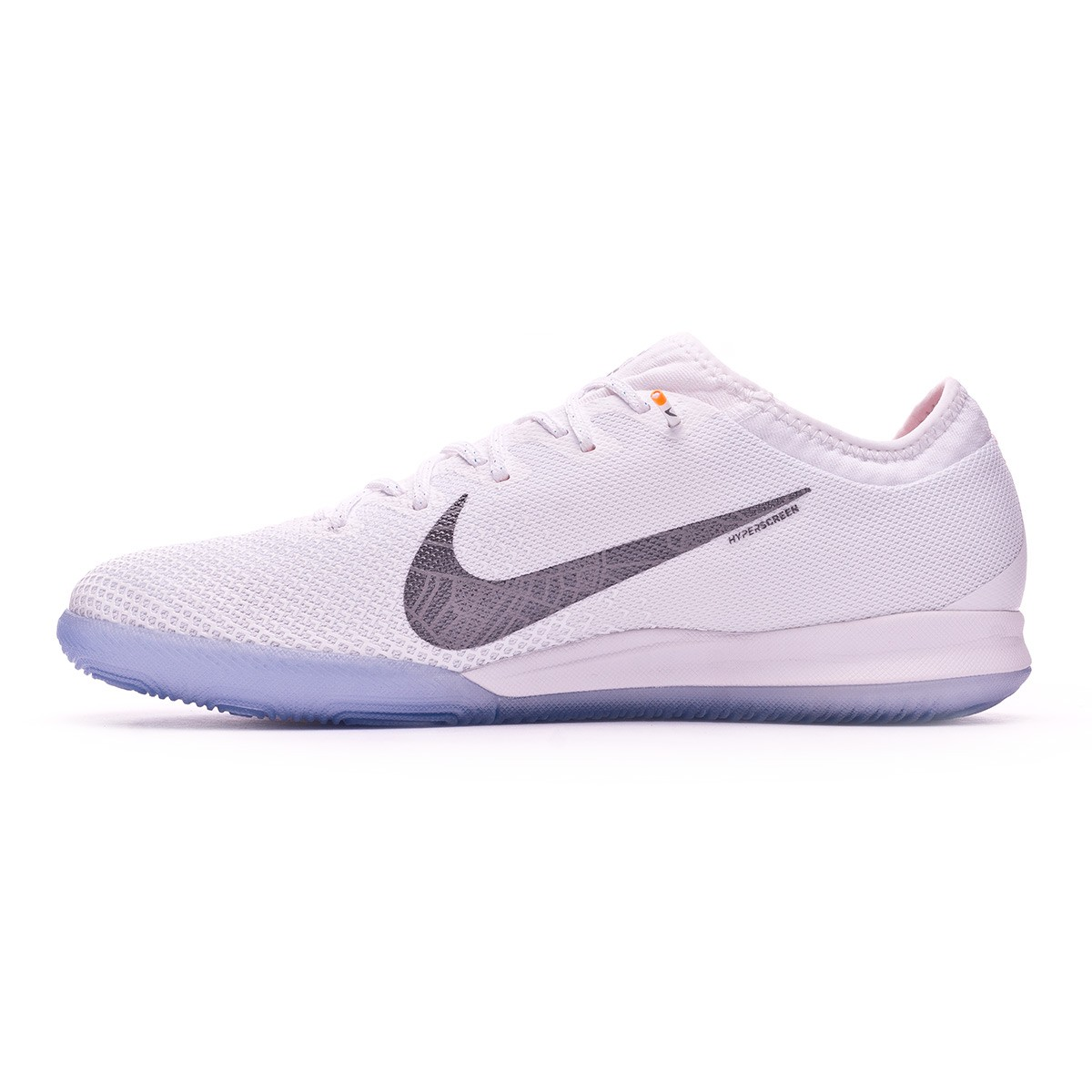 ebd39940e Futsal Boot Nike Mercurial VaporX XII Pro IC White-Metallic cool grey-Total  orange - Football store Fútbol Emotion
