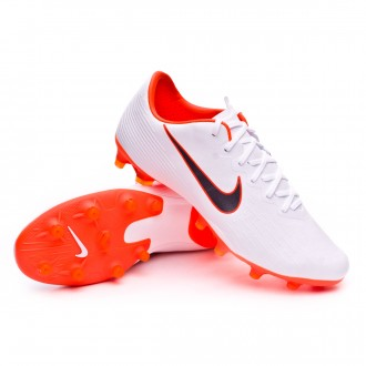Chaussure de football  Nike Mercurial Vapor XII Pro AG-Pro White-Metallic cool grey-Total orange