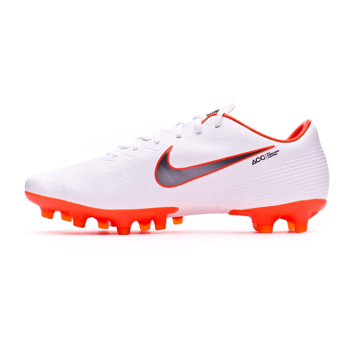 4336a4af0bc Football Boots Nike Mercurial Vapor XII Pro AG-Pro White-Metallic cool grey-Total  orange - Football store Fútbol Emotion