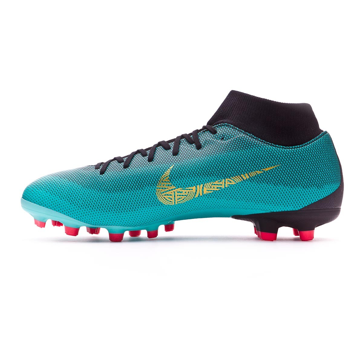 bf9605337a7d Football Boots Nike Mercurial Superfly VI Academy CR7 MG Clear jade-Metallic  vivid gold-Black - Tienda de fútbol Fútbol Emotion