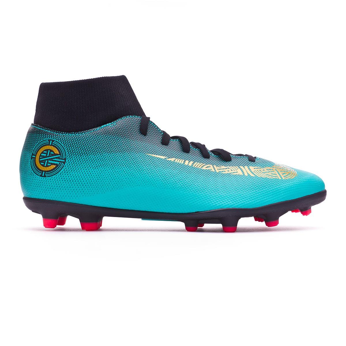 huge selection of ecf64 ae8dd Zapatos de fútbol Nike Mercurial Superfly VI Club CR7 MG Clear  jade-Metallic vivid gold-Black - Soloporteros es ahora Fútbol Emotion