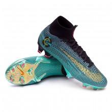 2de8fc69b43e7 Zapatos de fútbol Nike Mercurial Superfly VI Elite CR7 FG Clear jade ...