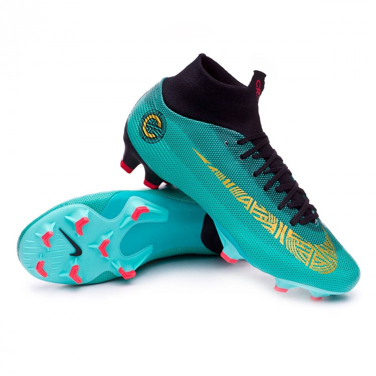 3bf9c115550 Boot Nike Mercurial Superfly VI Pro CR7 FG Clear jade-Metallic vivid ...