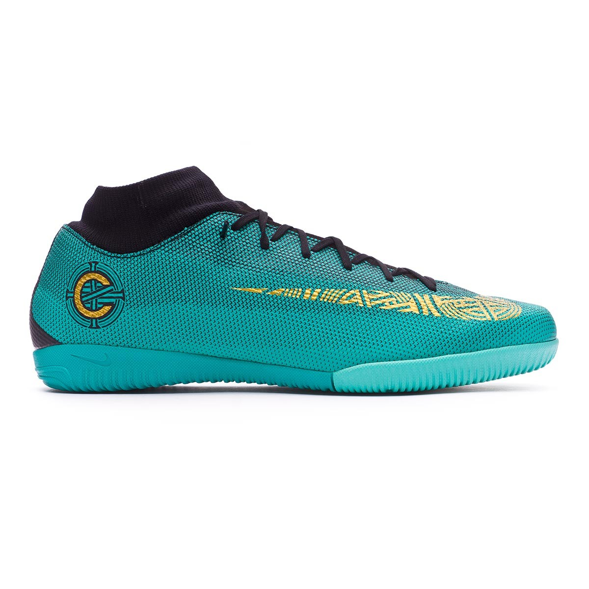 8b75f5061807 Zapatilla Nike Mercurial SuperflyX VI Academy CR7 IC Clear jade-Metallic  vivid gold-Black - Tienda de fútbol Fútbol Emotion