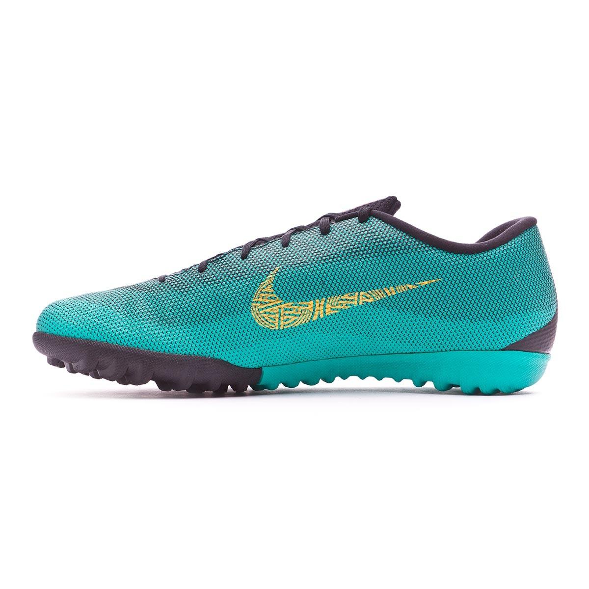 50c56a25d4d Football Boot Nike Mercurial VaporX XII Academy CR7 Turf Clear jade-Metallic  vivid gold-Black - Football store Fútbol Emotion