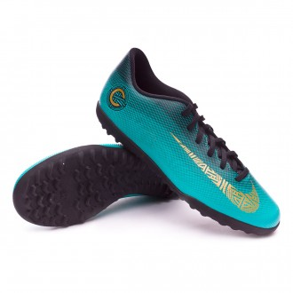 Zapatilla  Nike Mercurial VaporX XII Club CR7 Turf Clear jade-Metallic vivid gold-Black
