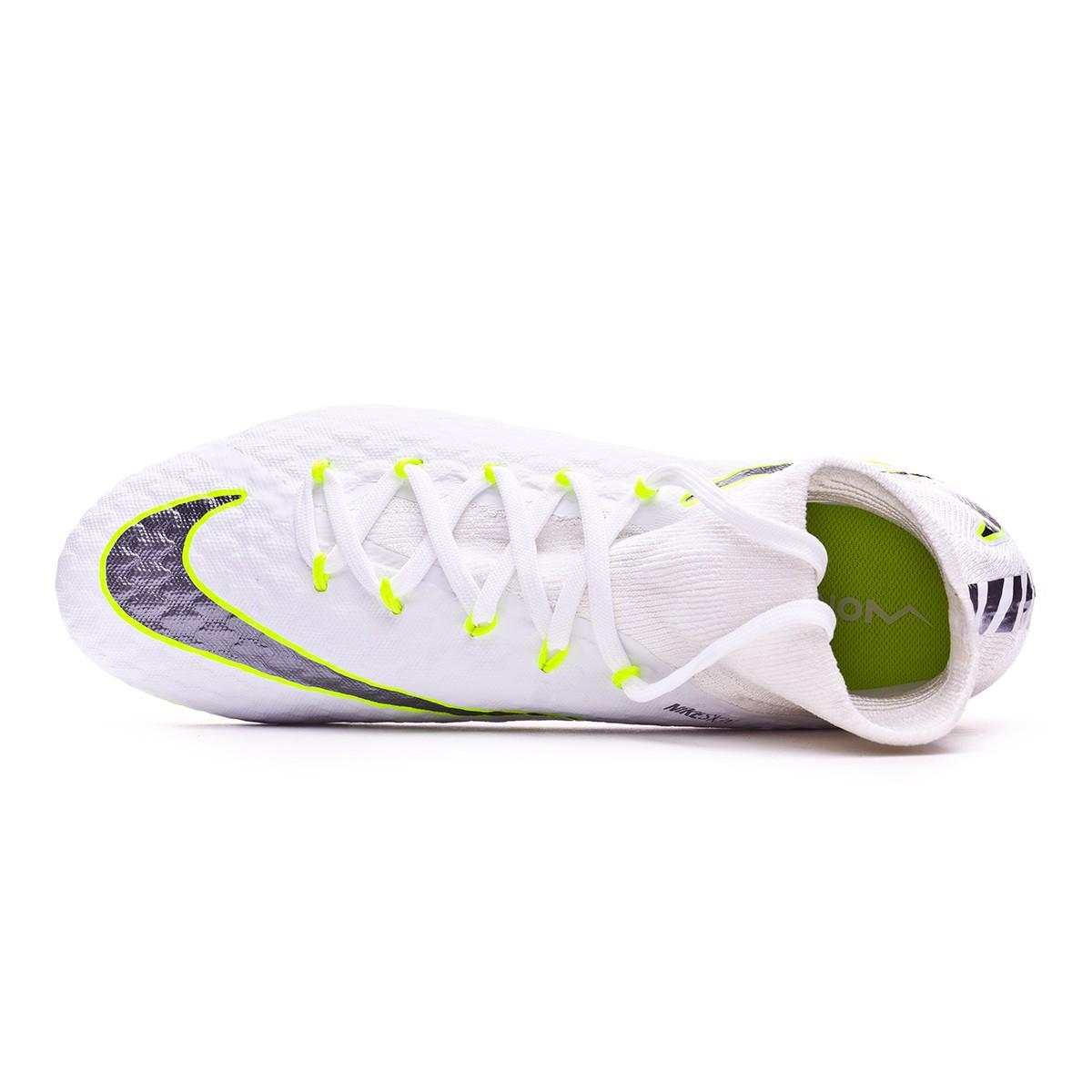 6ea80f220 Football Boots Nike Hypervenom Phantom III Pro DF FG White-Metallic cool  grey-Volt-Metallic cool g - Football store Fútbol Emotion