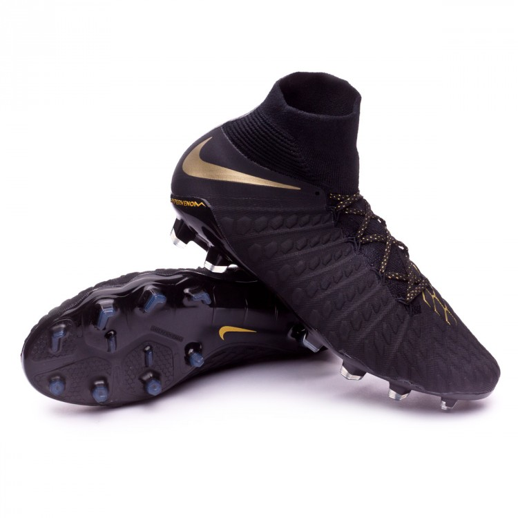 Bota de fútbol Nike Hypervenom Phantom III Elite DF FG Black ... cf8da95f324b1