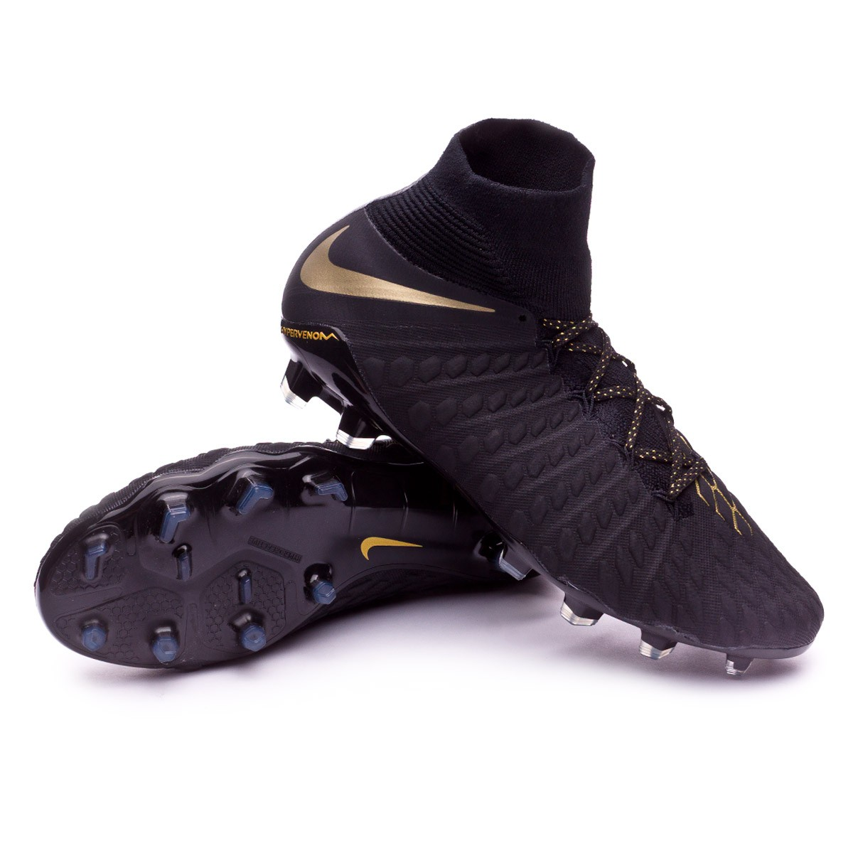 Zapatos de fútbol Nike Hypervenom Phantom III Elite DF FG Black ... 62ee67ac93cd2