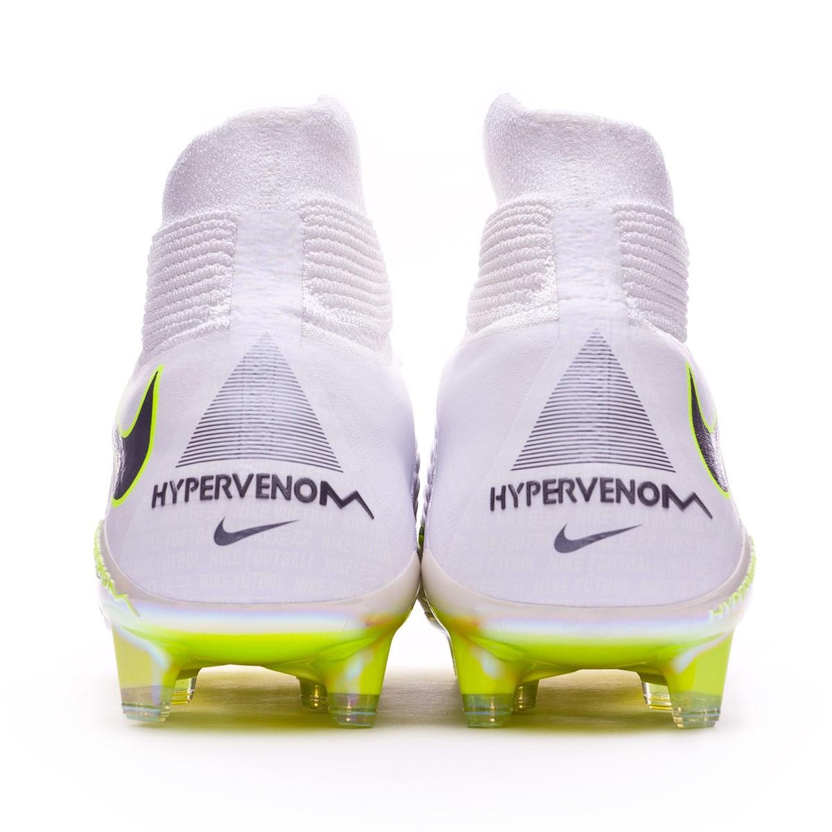 d421bc3996b Football Boots Nike Hypervenom Phantom III Elite DF FG White-Metallic cool  grey-Volt-Metallic cool g - Football store Fútbol Emotion