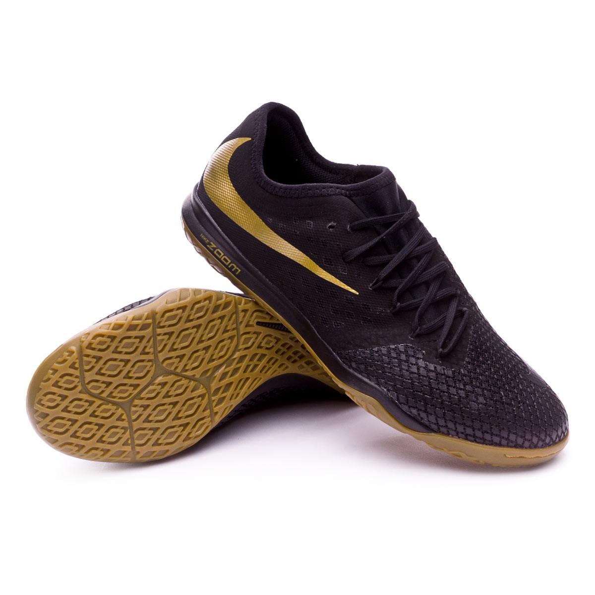 a778e36dc768 Futsal Boot Nike Hypervenom Zoom PhantomX III Pro IC Black-Metallic ...