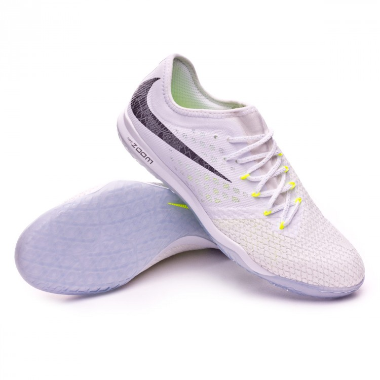 half off 5f7ad bdf28 Zapatilla Hypervenom Zoom PhantomX III Pro IC White-Metallic cool  grey-Volt-Mtallic cool gr