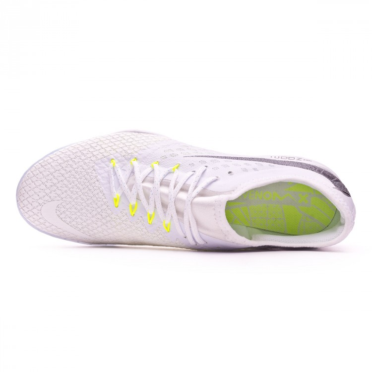 Zapatilla Hypervenom Zoom PhantomX III Pro IC White Metallic cool grey Volt Mtallic cool gr