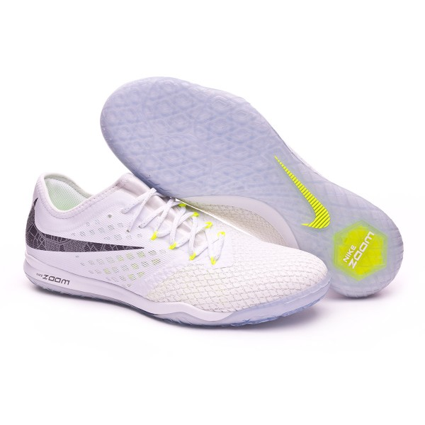 finest selection 4677d d5db6 Futsal Boot Nike Hypervenom Zoom PhantomX III Pro IC White-Metallic cool  grey-Volt-Mtallic cool gr - Soloporteros es ahora Fútbol Emotion