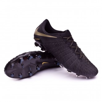 Chaussure de football  Nike Hypervenom Phantom III Elite FG Black-Metallic vivid gold