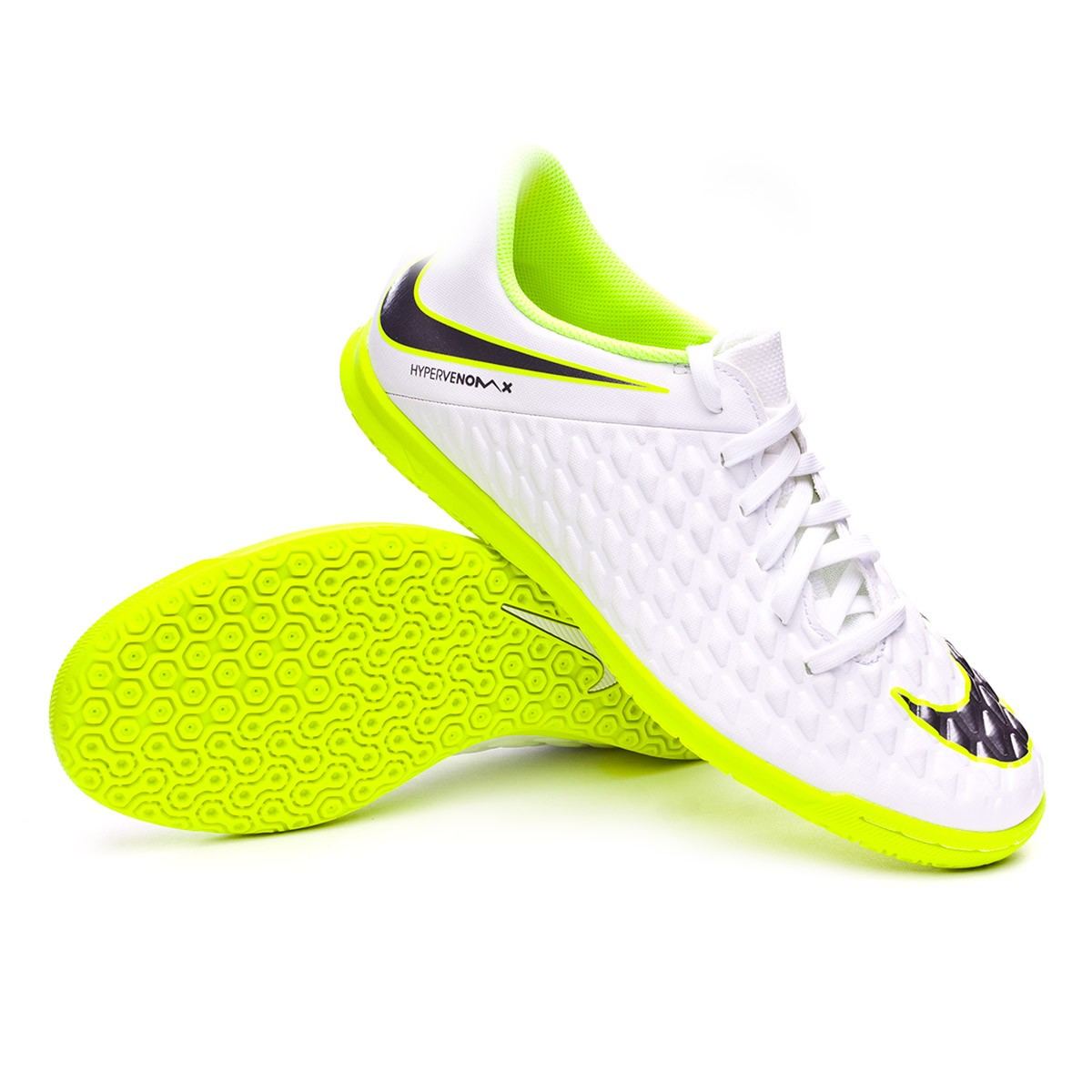 67e6d0689c49 Futsal Boot Nike Hypervenom PhantomX III Club IC White-Metallic cool ...