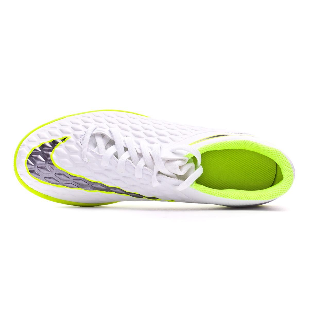 593be1de99b7 Futsal Boot Nike Hypervenom PhantomX III Club IC White-Metallic cool  grey-Volt-Metallic cool g - Football store Fútbol Emotion