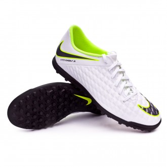 Zapatilla  Nike Hypervenom PhantomX III Club Turf White-Metallic cool grey-Volt-Metallic cool g