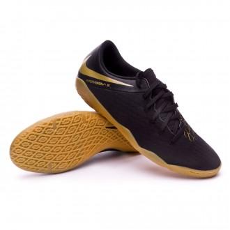 Chaussure de futsal  Nike Hypervenom PhantomX III Academy IC Black-Metallic vivid gold