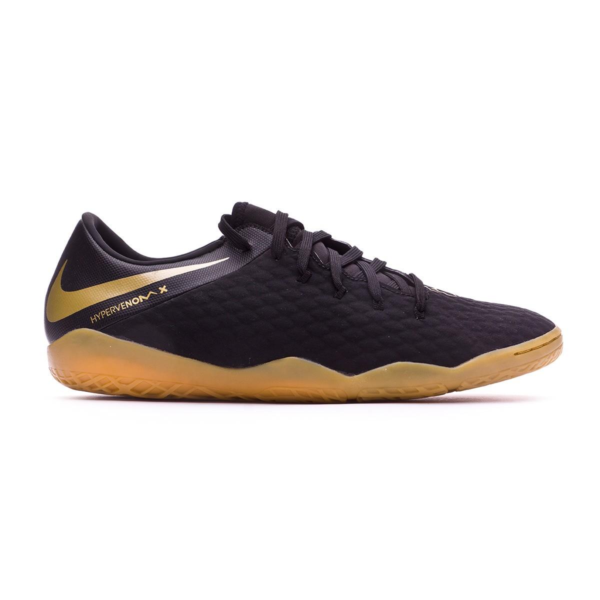 low priced 184c7 37139 Sapatilha de Futsal Nike Hypervenom PhantomX III Academy IC Black-Metallic  vivid gold - Loja de futebol Fútbol Emotion