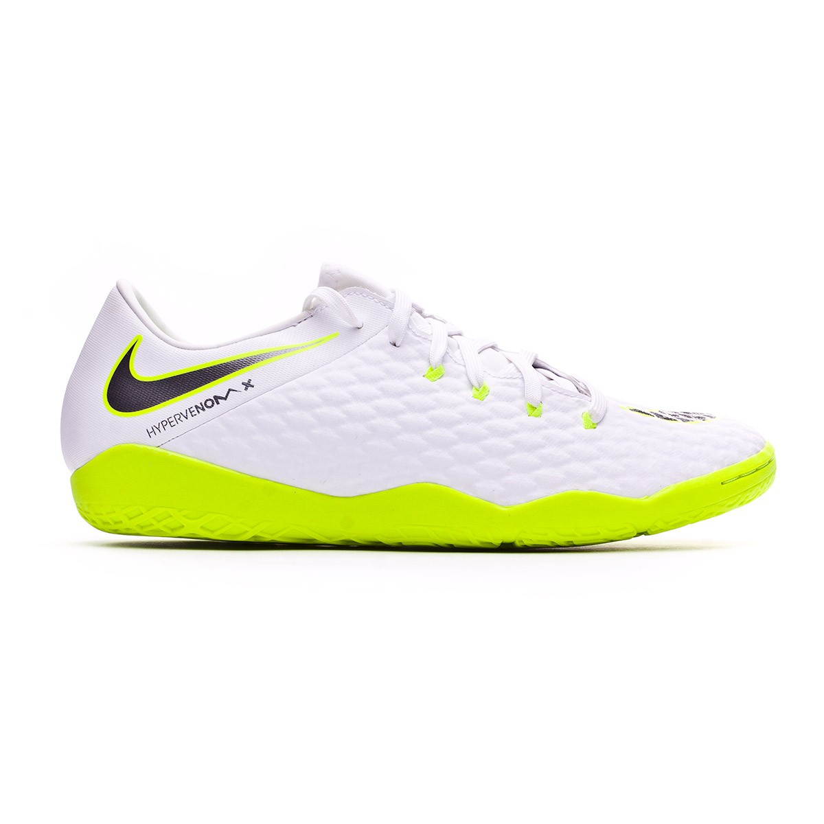 irregular Noche cómo utilizar  Futsal Boot Nike Hypervenom PhantomX III Academy IC White-Metallic cool  grey-Volt-Metallic cool g - Football store Fútbol Emotion