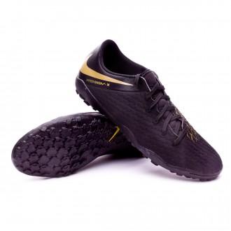 Chaussure de football  Nike Hypervenom PhantomX III Academy Turf Black-Metallic vivid gold