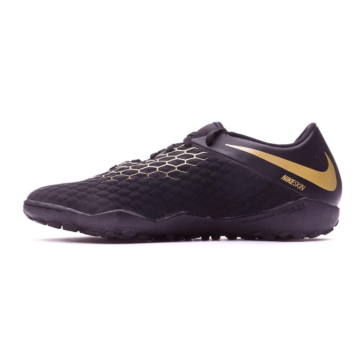 999075ea2cc ... shopping zapatilla nike hypervenom phantomx iii academy turf black  metallic vivid gold soloporteros es ahora fútbol