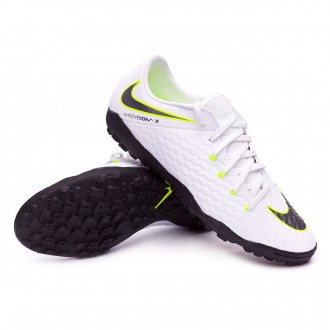 Zapatilla  Nike Hypervenom PhantomX III Academy Turf White-Metallic cool grey-Volt-Metallic cool g