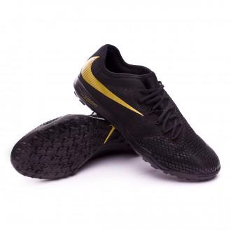 Chaussure de football  Nike Hypervenom Zoom PhantomX III Pro Turf Black-Metallic vivid gold