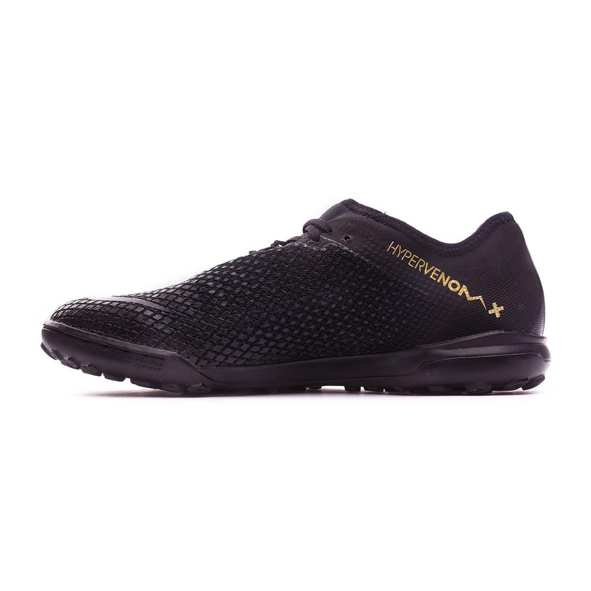 eea73a2577ff Tenis Nike Hypervenom Zoom PhantomX III Pro Turf Black-Metallic vivid gold  - Tienda de fútbol Fútbol Emotion