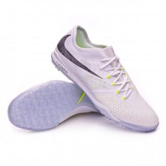 Chaussure de football  Nike Hypervenom Zoom PhantomX III Pro Turf White-Metallic cool grey-Volt-Metallic cool g