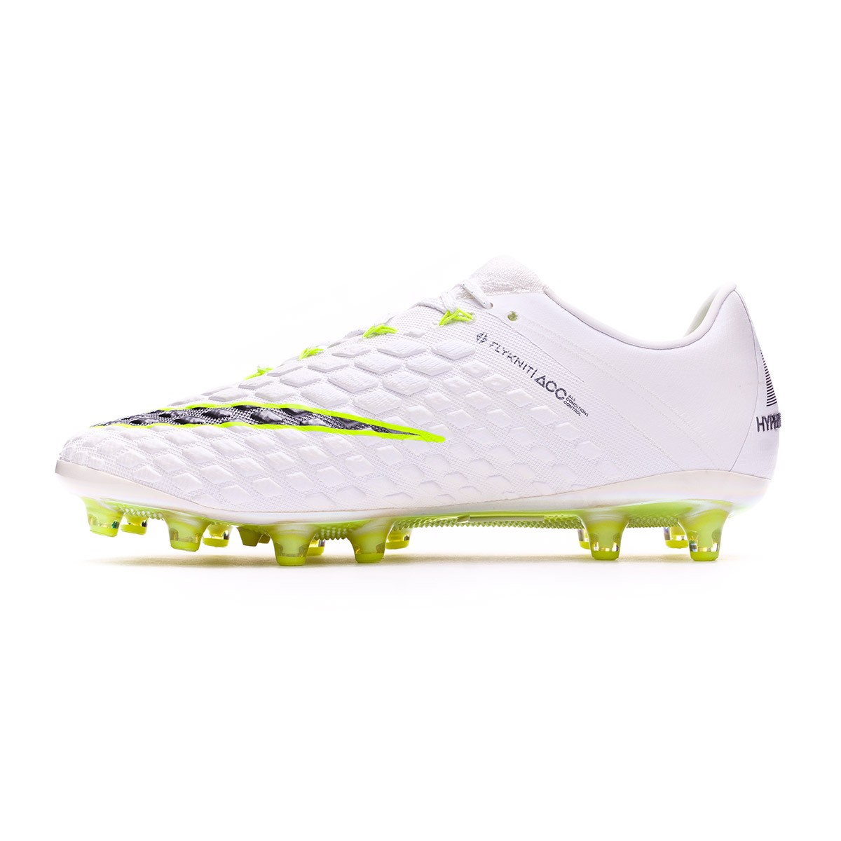 83b64e3f1e3 Football Boots Nike Hypervenom Phantom III Elite AG-Pro White-Metallic cool  grey-Volt-Metallic cool g - Tienda de fútbol Fútbol Emotion