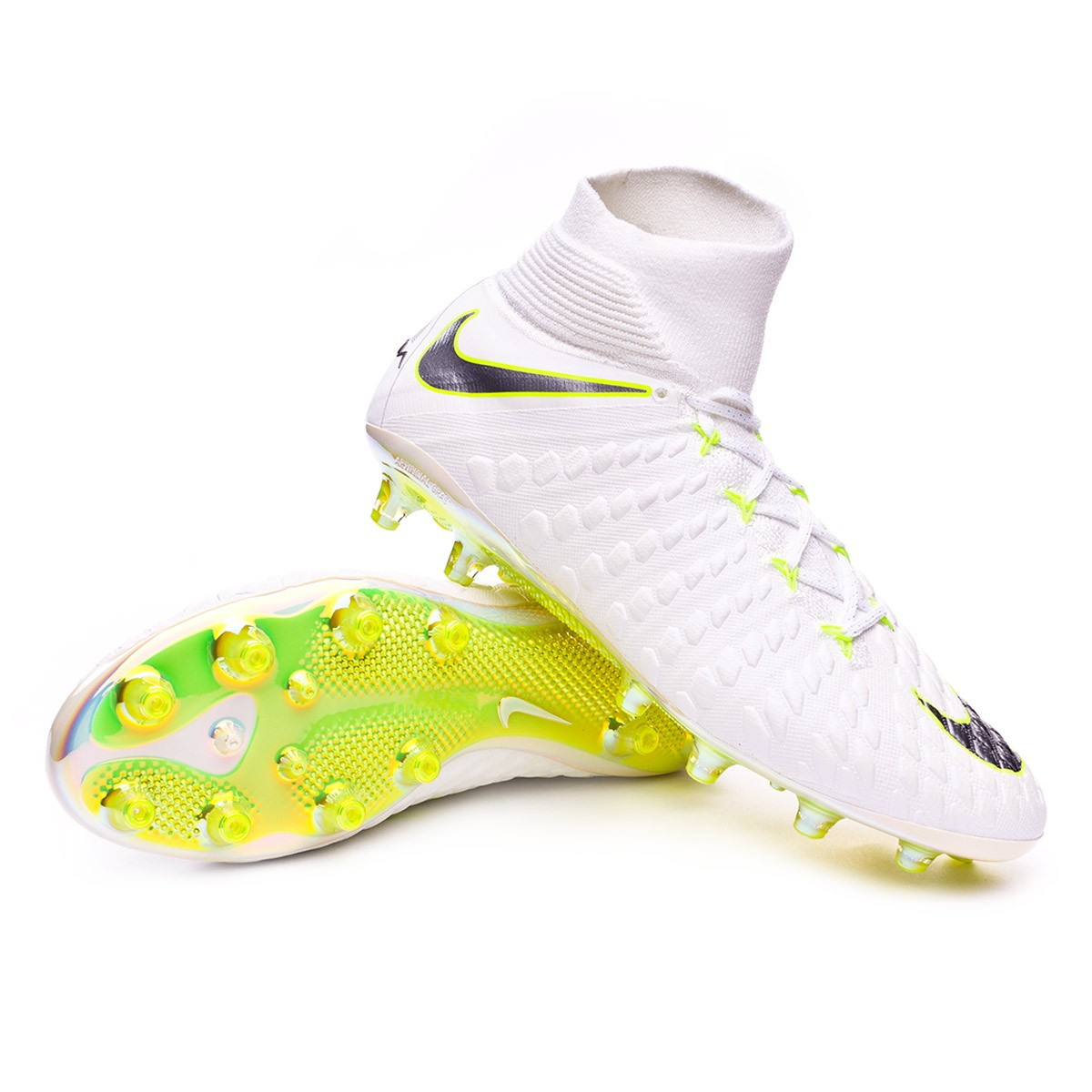 brand new 6678d ae71f Zapatos de fútbol Nike Hypervenom Phantom III Elite DF AG-Pro  White-Metallic cool grey-Volt-Metallic cool g - Tienda de fútbol Fútbol  Emotion