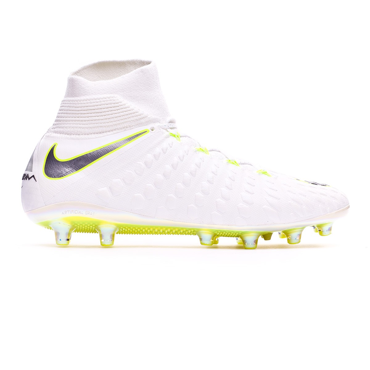 743511a5dec Football Boots Nike Hypervenom Phantom III Elite DF AG-Pro White-Metallic  cool grey-Volt-Metallic cool g - Football store Fútbol Emotion