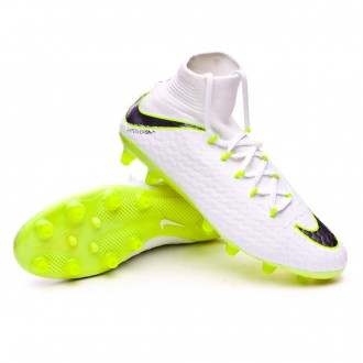Bota  Nike Hypervenom Phantom III Pro DF AG-Pro White-Metallic cool grey-Volt-Metallic cool g