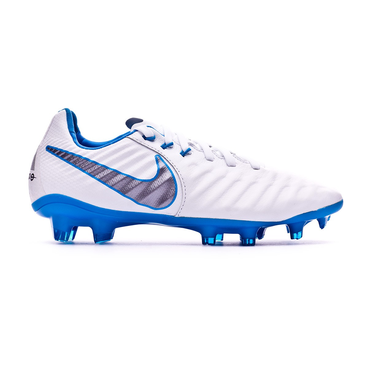 514ba2cd1e550 Football Boots Nike Kids Tiempo Legend VII Elite FG White-Metallic cool  grey-Blue hero - Football store Fútbol Emotion