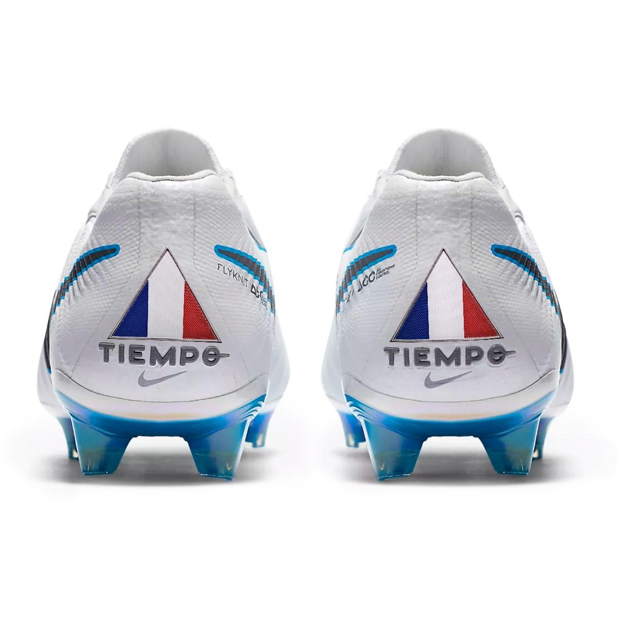 check out d0307 46d8d Boot Nike Kids Tiempo Legend VII Elite FG White-Metallic cool grey-Blue  hero - Soloporteros es ahora Fútbol Emotion