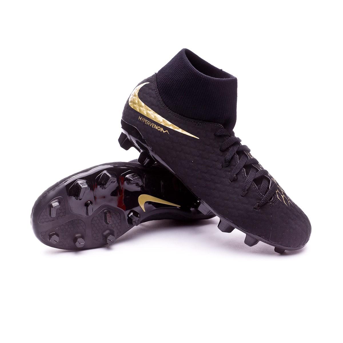 0006a3bc9 Football Boots Nike Kids Hypervenom Phantom III Academy DF FG Black ...