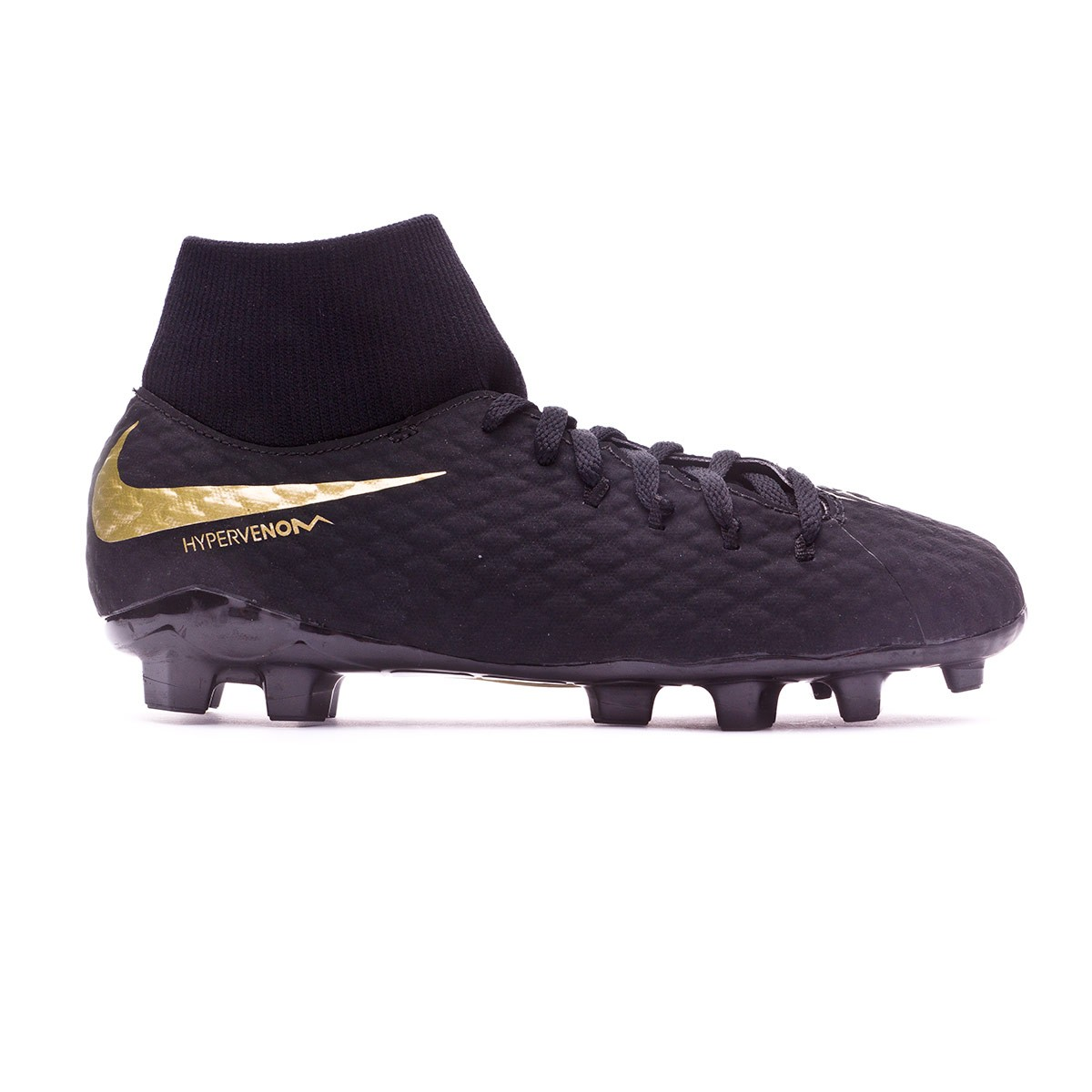 a09eeab4a22 Football Boots Nike Kids Hypervenom Phantom III Academy DF FG  Black-Metallic vivid gold - Tienda de fútbol Fútbol Emotion