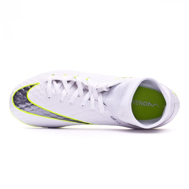 7806b807d5d Boot Nike Kids Hypervenom Phantom III Academy DF FG White-Metallic ...