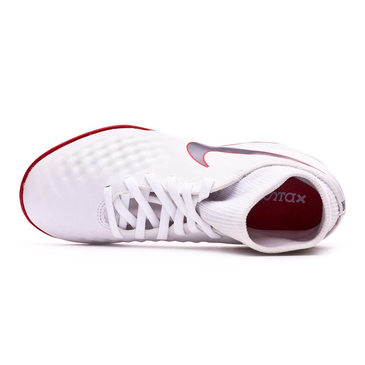 cce66fb7a41d Futsal Boot Nike Kids Magista ObraX II Academy DF IC White-Metallic cool  grey-Light crimson - Football store Fútbol Emotion
